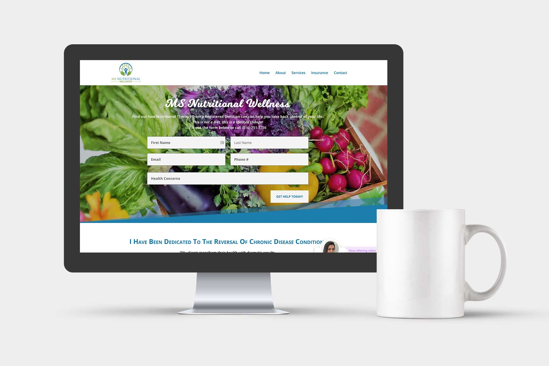 website for nutritionist