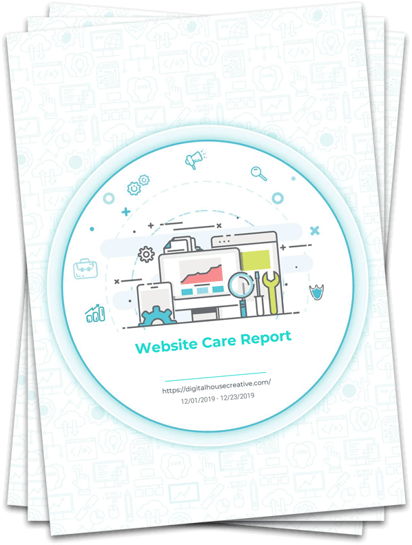 Monthly website care plan report