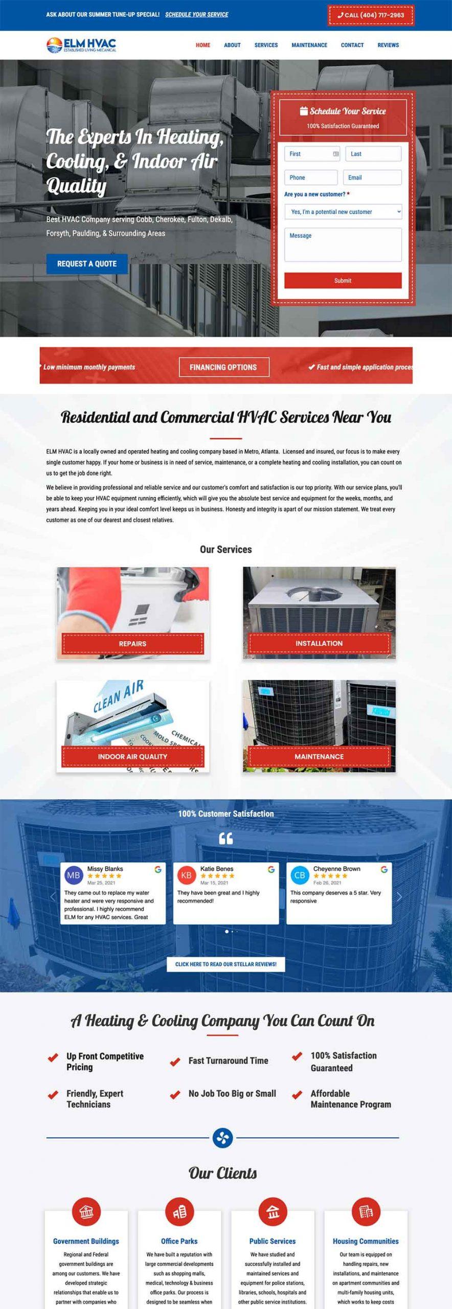 website design for hvac company